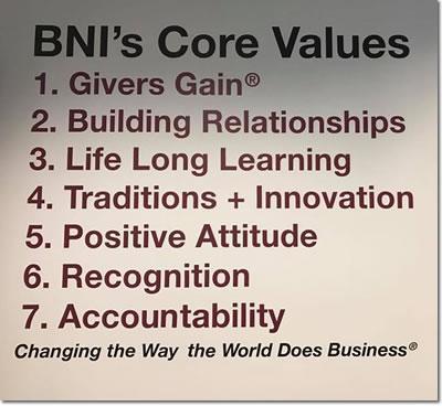 BNI Mississippi Core Values
